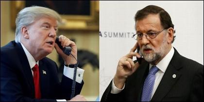 Donald Trump (EEUU) y Mariano Rajoy (ESPAÑA).