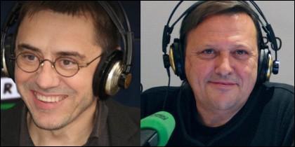 Juan Carlos Monedero y Javier Caraballo.
