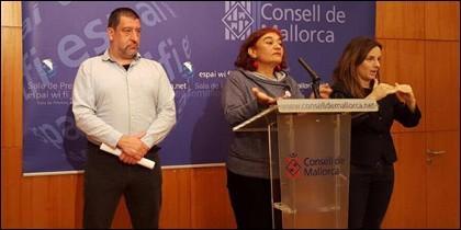 Jesús Jurado y Nina Parrón (Podemos).