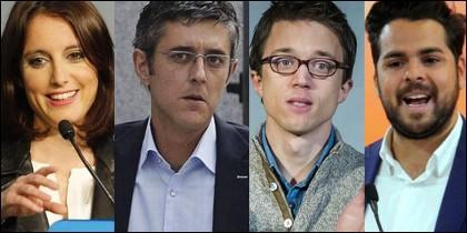 Andrea Levy, Eduardo Madina, Iñigo Errejón y Fernando de Páramo.