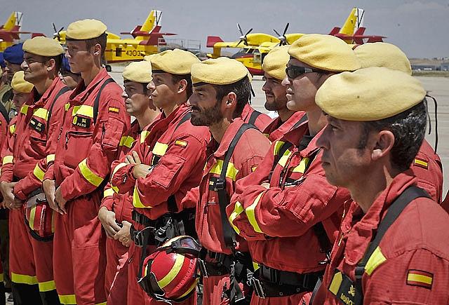 Militares de la Unidad Militar de Emergencias (UME)