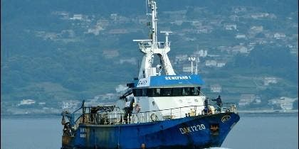 El pesquero gallego 'Senefand Uno', hundido frente a Senegal