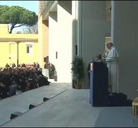 El Papa, en Roma Tre
