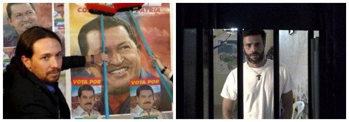 Pablo Iglesias y Leopoldo López.