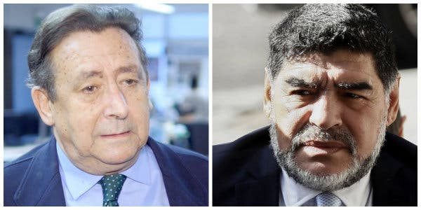 Alfonso Ussía y Diego Armando Maradona.