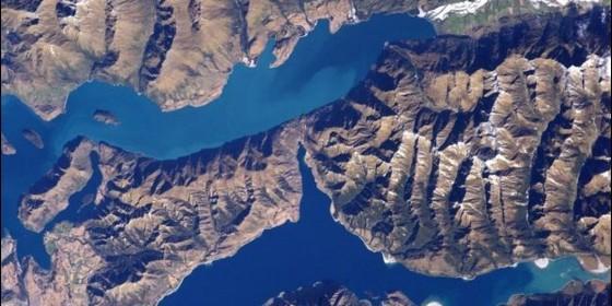 Así se ve Nueva Zelanda desde la Estación Espacial Internacional