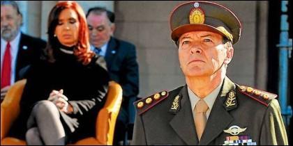 César Milani fue jefe del ejército de Argentina durante la presidencia de Cristina Fernández de Kirchner.