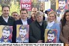 PP, PSOE y Ciudadanos piden en Madrid la libertad de los políticos presos en Venezuela, principalmente Leopoldo López.