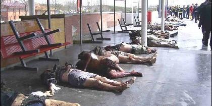 Víctimas de los atentados del 11M, en los ándenes de la Estación de Atocha.
