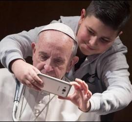 El selfie con el Papa
