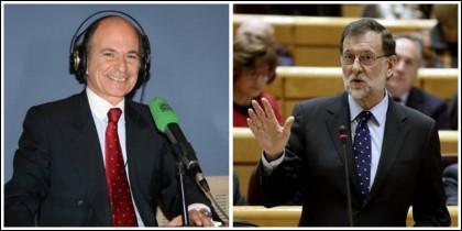 Carlos Rodríguez Braun y Mariano Rajoy.