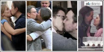 Los besos de Pablo  Iglesias.