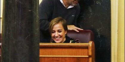 Tania Sánchez en el 'gallinero'.