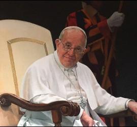 El cuadro del Papa Francisco