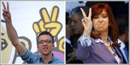 Íñigo Errejón y Cristina Kirchner.