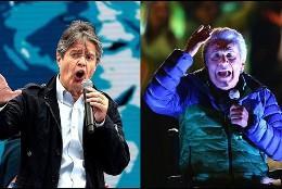 Lenín Moreno y el opositor de derecha Guillermo Lasso