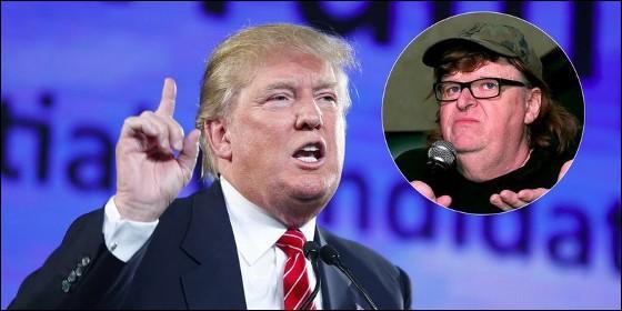 Donald Trump, prewsidente de EEUU, y Michael Moore.