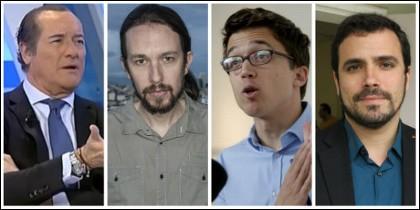 Jiménez, Pablo Iglesias, Íñigo Errejón y Alberto Garzón.