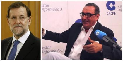 Mariano Rajoy y Carlos Herrera.