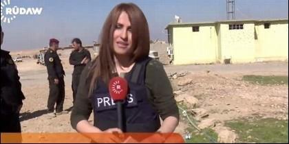 La reportera kurda Shifa Gardi, caída en combate en Mosul.