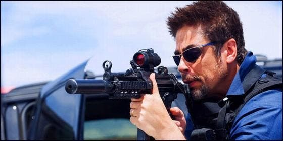 Benicio del Toro en 'Sicario'.