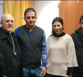 Osoro, con refugiados del centro de San't Egidio en Roma
