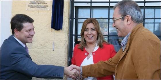 Emiliano García-Page promociona a Susana Díaz, como secretaria general del PSOE.