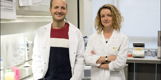 Los investigadores Anna Labernadie y Xavier Trepat