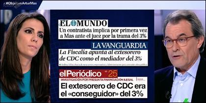 Ana Pastor y Artur Mas.