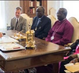 Francisco, con los líderes religiosos de Sudán del Sur
