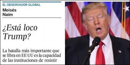 Un artículo en El País el 25-02-2017 y Donald Trump.