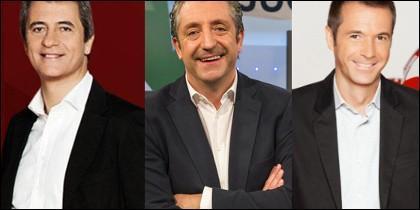 Manolo Lama, Josep Pedrerol y Manu Carreño.