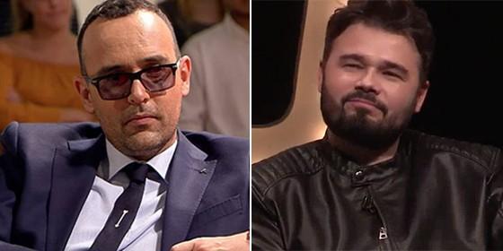 Risto Mejide en Chester y Gabriel Rufián en 'Público'.