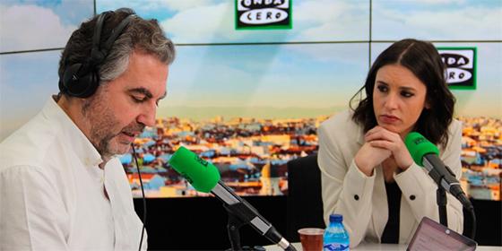 Carlos Alsina e Irene Montero.