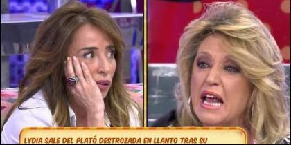María Patiño contra Lydia Lozano en 'Sálvame' de Telecinco.