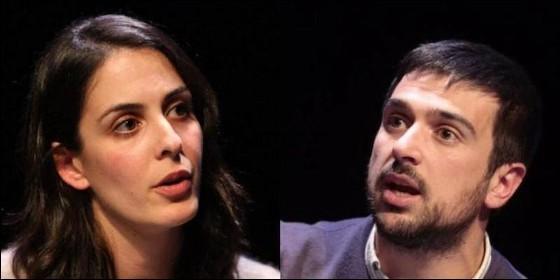 Rita Maestre y Ramón Espinar (PODEMOS).