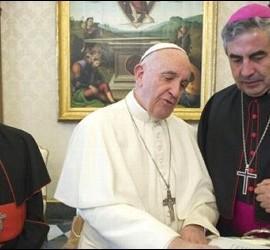 Obispos chilenos, con el Papa Francisco