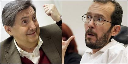 Federico Jiménez Losantos y Pablo Echenique.