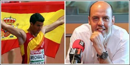 Adel Mechaal y Jordi Basté.