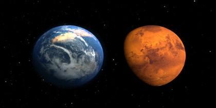 Marte en el pasado y ahora, según una ilustración de la NASA. El planeta rojo tuvo en el pasado una atmósfera y océanos