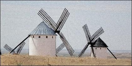 Molinos de viento en Campo de Criptana.