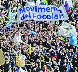El Papa Francisco, con los focolares