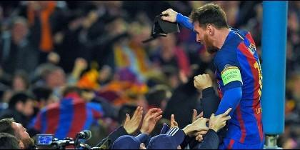 El vídeo que aún no has visto de la celebración de Messi tras eliminar al PSG