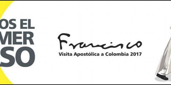 Emblema de la próxima visita papal a Colombia