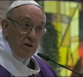 El Papa, hoy, en su sermón