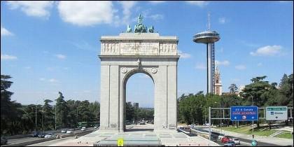El Arco de la Victoria, en Madrid.