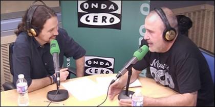 Pablo Iglesias y Carlos Rodríguez.
