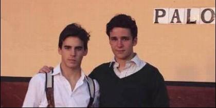 Diego Caballero y Froilan en la plaza de toros.