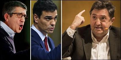 Patxi López, Pedro Sánchez y Federico J. Losantos.