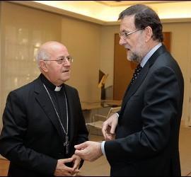 Ricardo Blázquez, con Mariano Rajoy en Moncloa